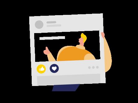 Social Media - prowadzenie fanpage na facebooku, profil firmowy na linkedin